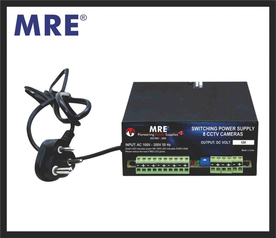 8 channel cctv power supply